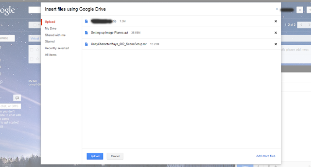 Sending files via Gmail using Google Drive