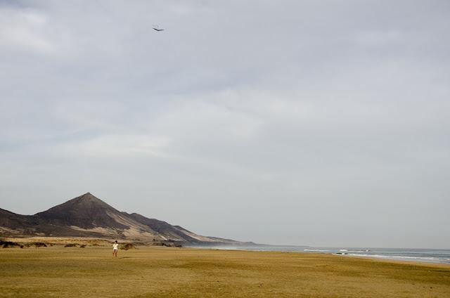 playa de cofete en fuerteventura. Inmensa playa.