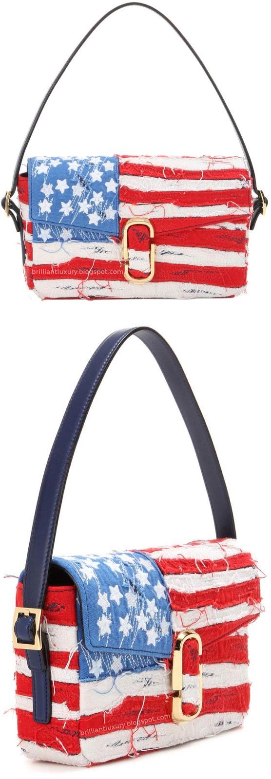 Brilliant Luxury ♦ Marc Jacobs american flag shoulder bag