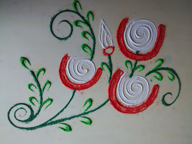 freehand rangoli designs borders
