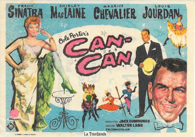 Programa de Cine - Can-Can - Frank Sinatra, Shirley MacLaine, Maurice Chevalier, Louis Jourdan
