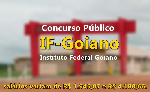 Concurso IFGoiano - Instituto Federal Goiano