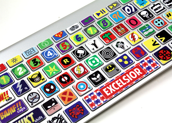 Mac Keyboard Super Hero Skin