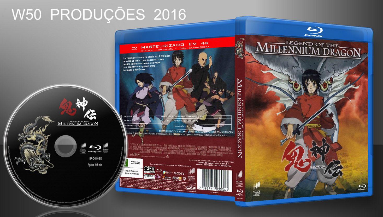 w50 produ es cds dvds blu ray legend of the millennium dragon blu ray lan amento 2016. Black Bedroom Furniture Sets. Home Design Ideas