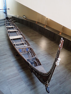 Bow of the Solomon Islands mon canoe at the Vatican.