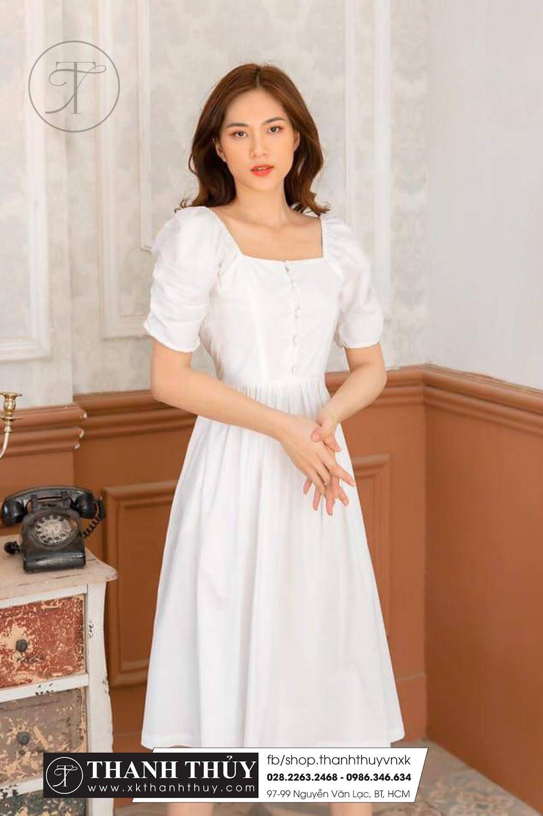 Đầm cotton sang dáng baby Dolll