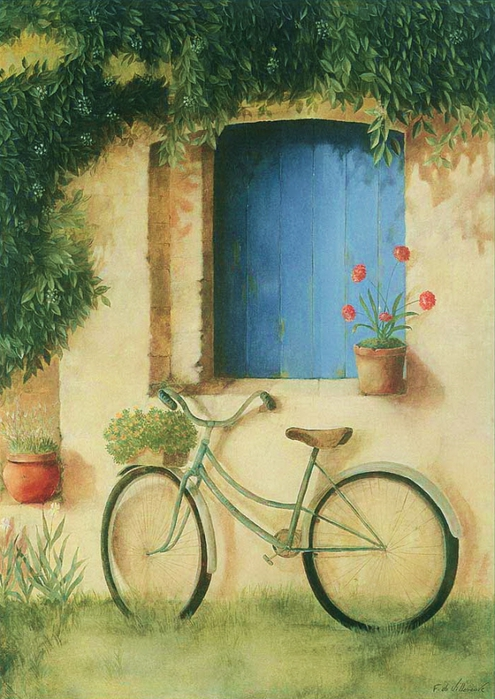 Fabrice de Villeneuve 1954 | French Vintage painter