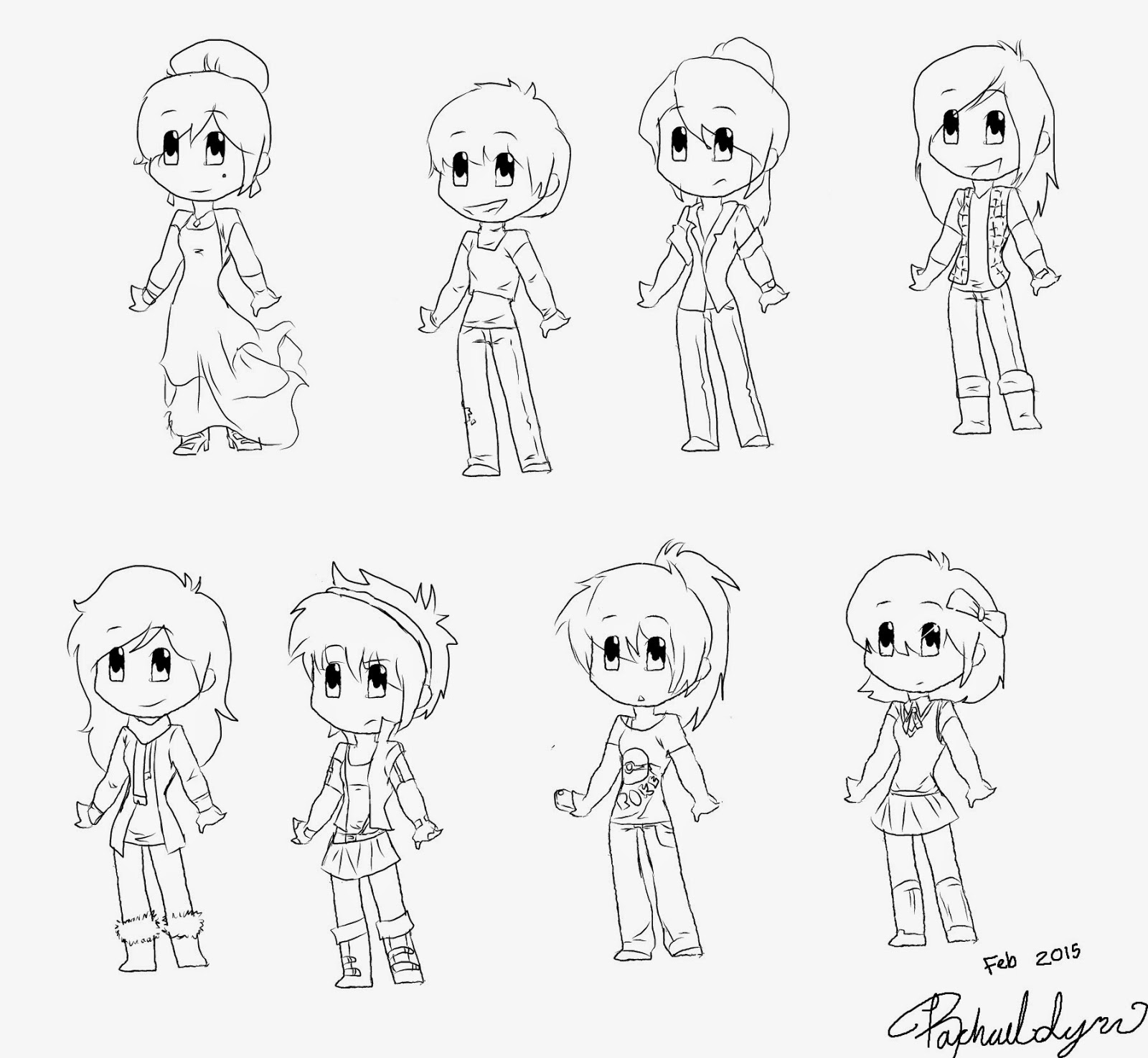It's just an image of Vibrant Chibi Style Drawing