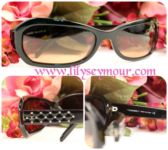 Chanel Rhinestone Sunglasses