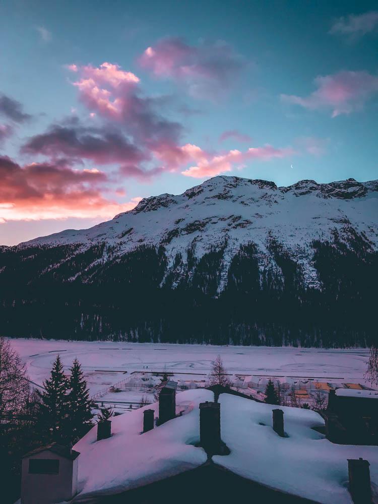 coucher de soleil saint-moritz blog voyage laquotidiennedele suisse bons plans hotel restaurant