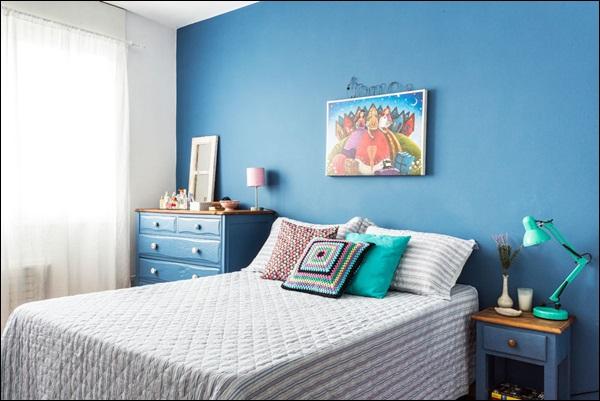 quarto de menino com cor azul