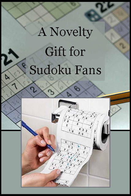 Novelty, gag gift idea for Sudoku and puzzle fans