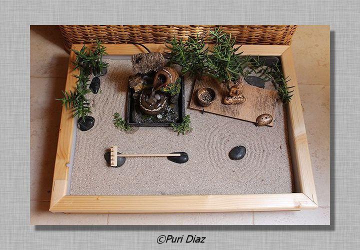 manualidades puri diaz mini jardin zen. Black Bedroom Furniture Sets. Home Design Ideas