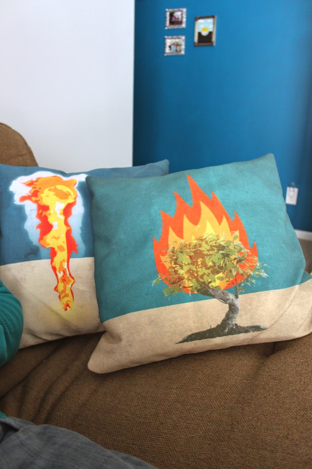 Pillar of Cloud and Burning Bush throw pillows | Land of Honey