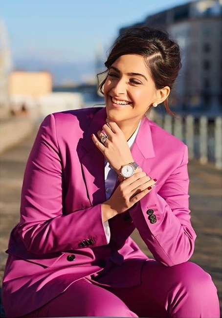 Image result for sonam kapoor latest pics in pink dress