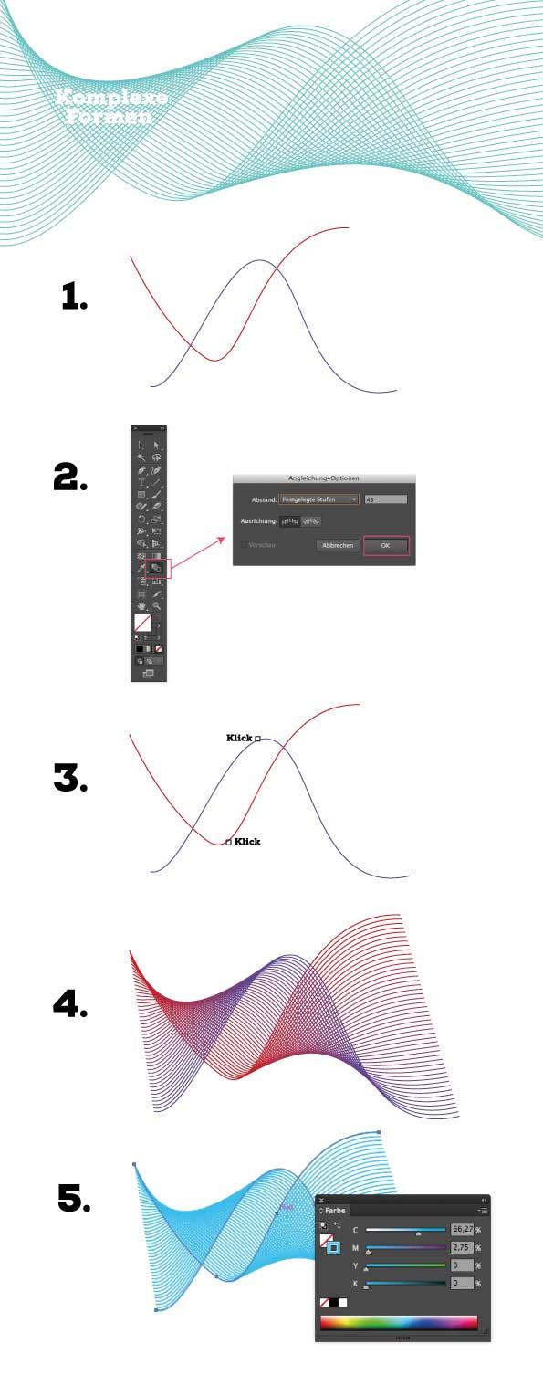 Komplexe Formen schnell erstellt in Illustrator
