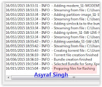 preparing files for flashing - flashtool sony xperia