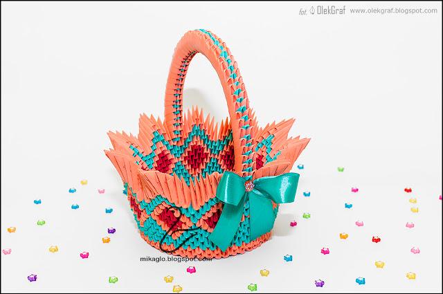 537. Koszyk z origami / 3d origami basket