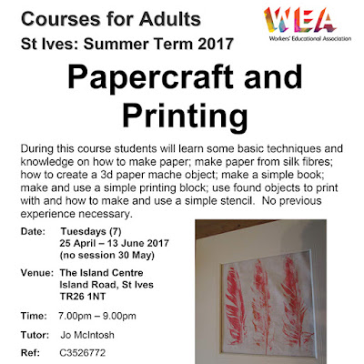 Papercraft and Printing - The Island Centre St Ives