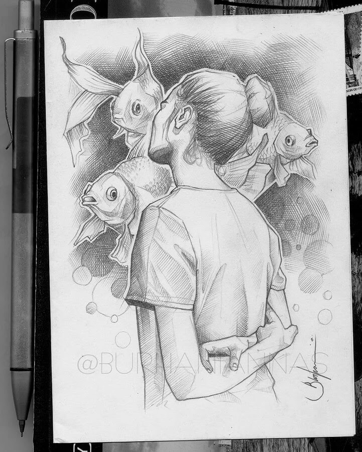 02-in blissful-contemplation-Nas-Pencil-Drawings-www-designstack-co