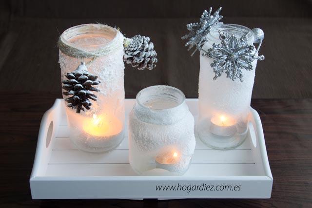 Hogar diez esta navidad recicla tus botes y botellas - Como hacer centros de mesa para navidad ...
