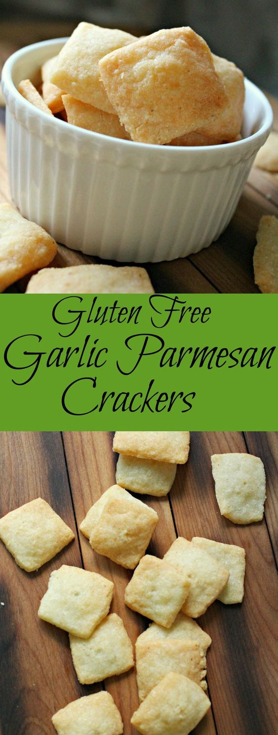 GLUTEN FREE GARLIC PARMESAN CRACKERS