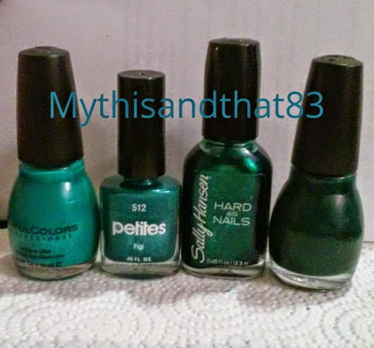 My Collection in Swatches # 8: Teals, Part 2