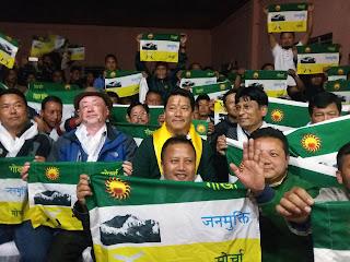 Councillor KB gurng Miren Lama joins morcha