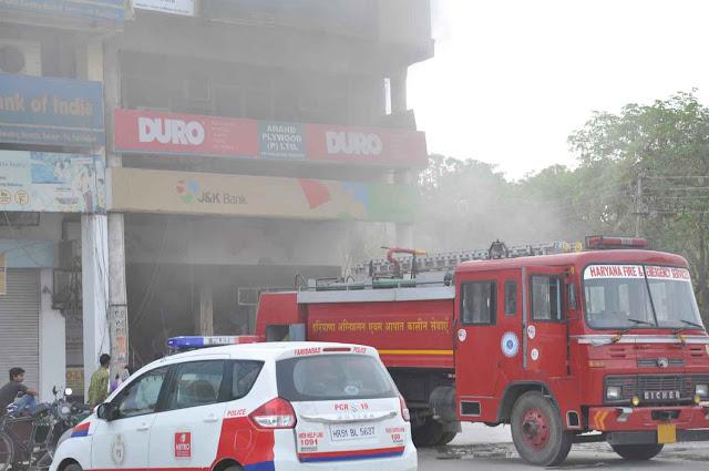 major-fire-sector-16-market-faridabad