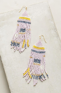 Make a splash in these statement earrings - Geo Pastel Beaded Earrings - Anthropologie - Jewellery Summer Holiday