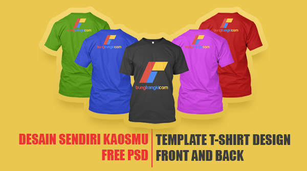 Download Template Kaos Photoshop PSD Warna-warni