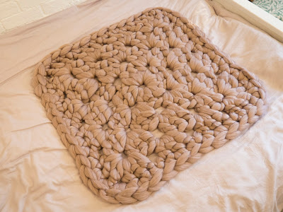 Giant Granny Square Rug by we laugh indoors