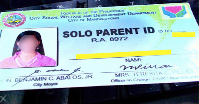 Solo Parent ID and Benefits/Money Max