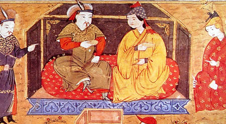 Hulagu Khan with his wife