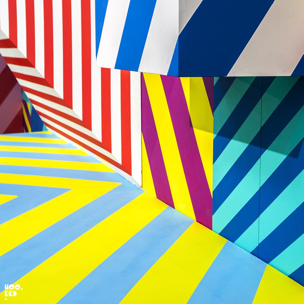 Part of Irish Street Artist Maser's Installation at the Moniker Art Fair in London