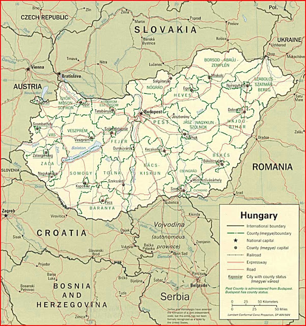 Gambar Peta politik Hongaria