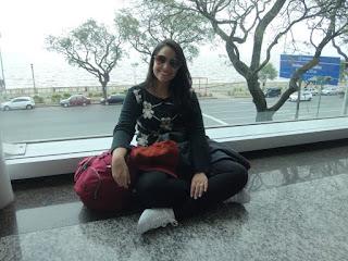 Descansando no aeroporto de Buenos Aires