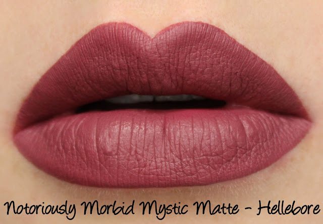 Notoriously Morbid Bewitching Blooms Mystic Mattes - Hellebore Swatches & Review