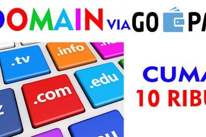 Cara Order Domain dengan GO-PAY, Murah Banget!