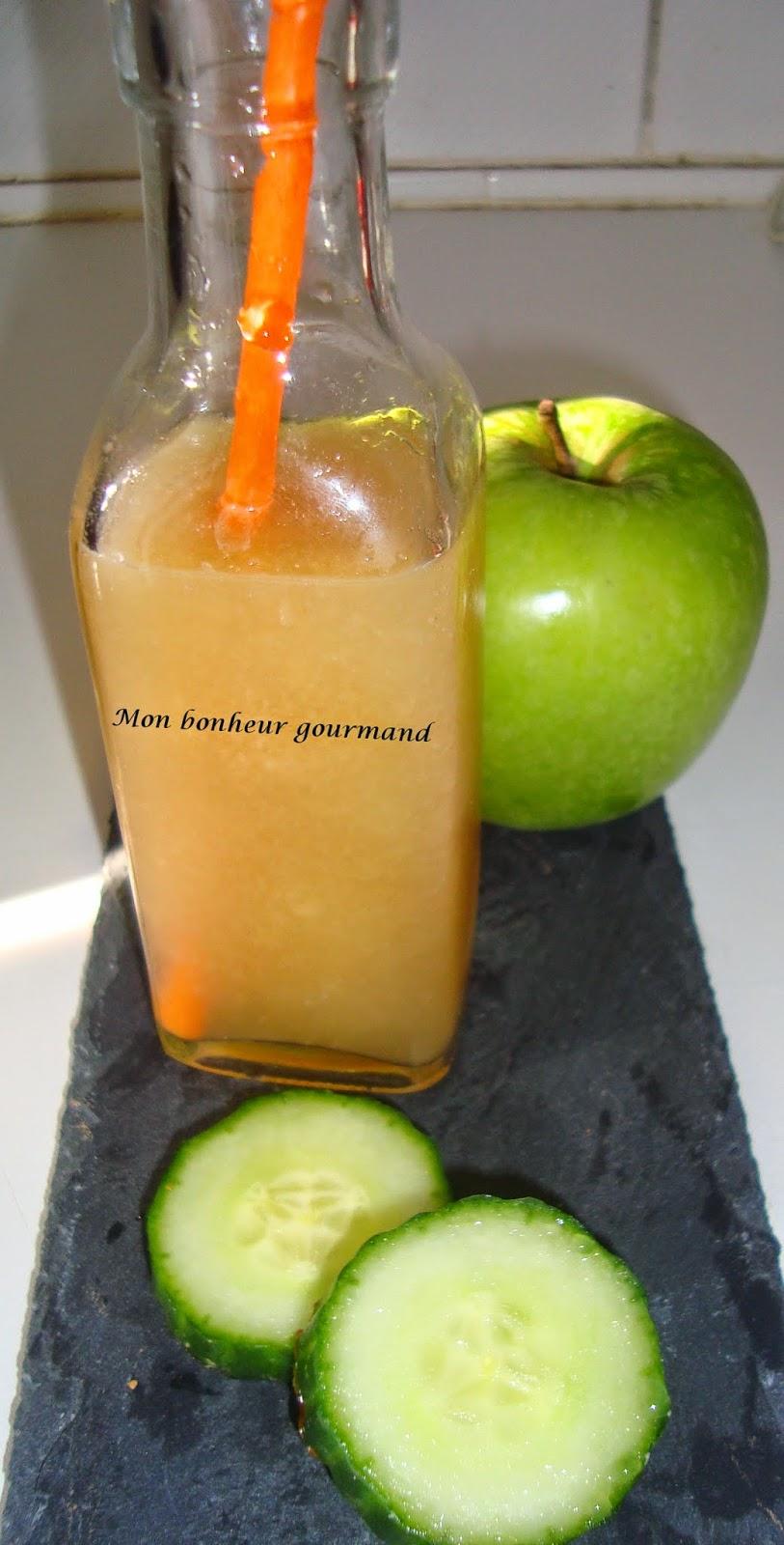 smoothie coquelicot concombre pommes