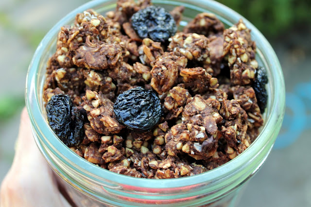 Vegan, gluten-free, soy-free, and refined sugar-free Chocolate Granola Clusters!