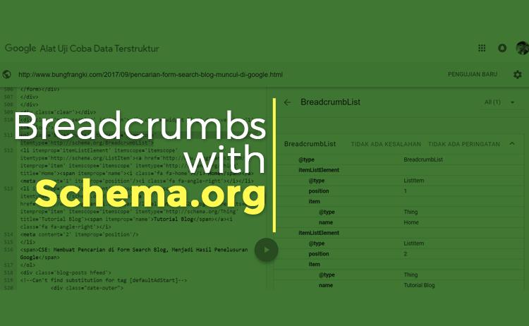 Membuat Breadcrumbs dengan Microdata Schema.org