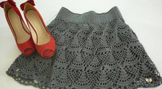 Patrón 1066 Mini Falda a Crochet