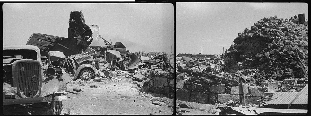 Разбитая немецкая техника у входа в подземный госпиталь на Херсонесском аэродроме