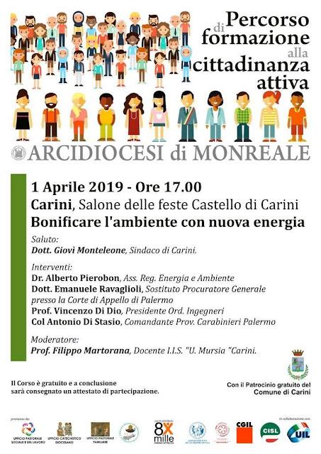 Calendario Raccolta Differenziata Carini 2019.Citta Nuove Corleone A Carini Un Convegno Dell Arcidiocesi