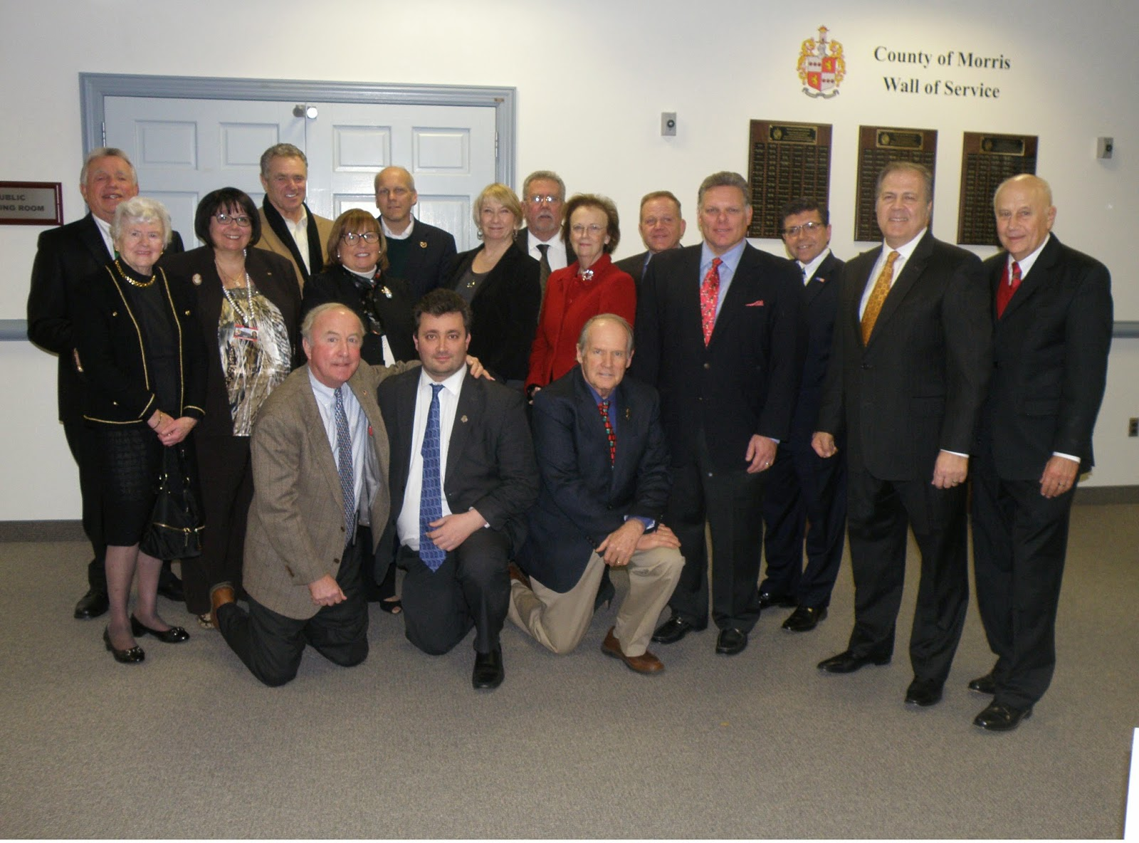Former Freeholders Honored by Current Board With Wall of Service