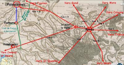 Bavay, capitale de la tribu des Nerviens, était le point de convergence des routes romaines du Nord de la Gaule du 1er au 4ème siècle.