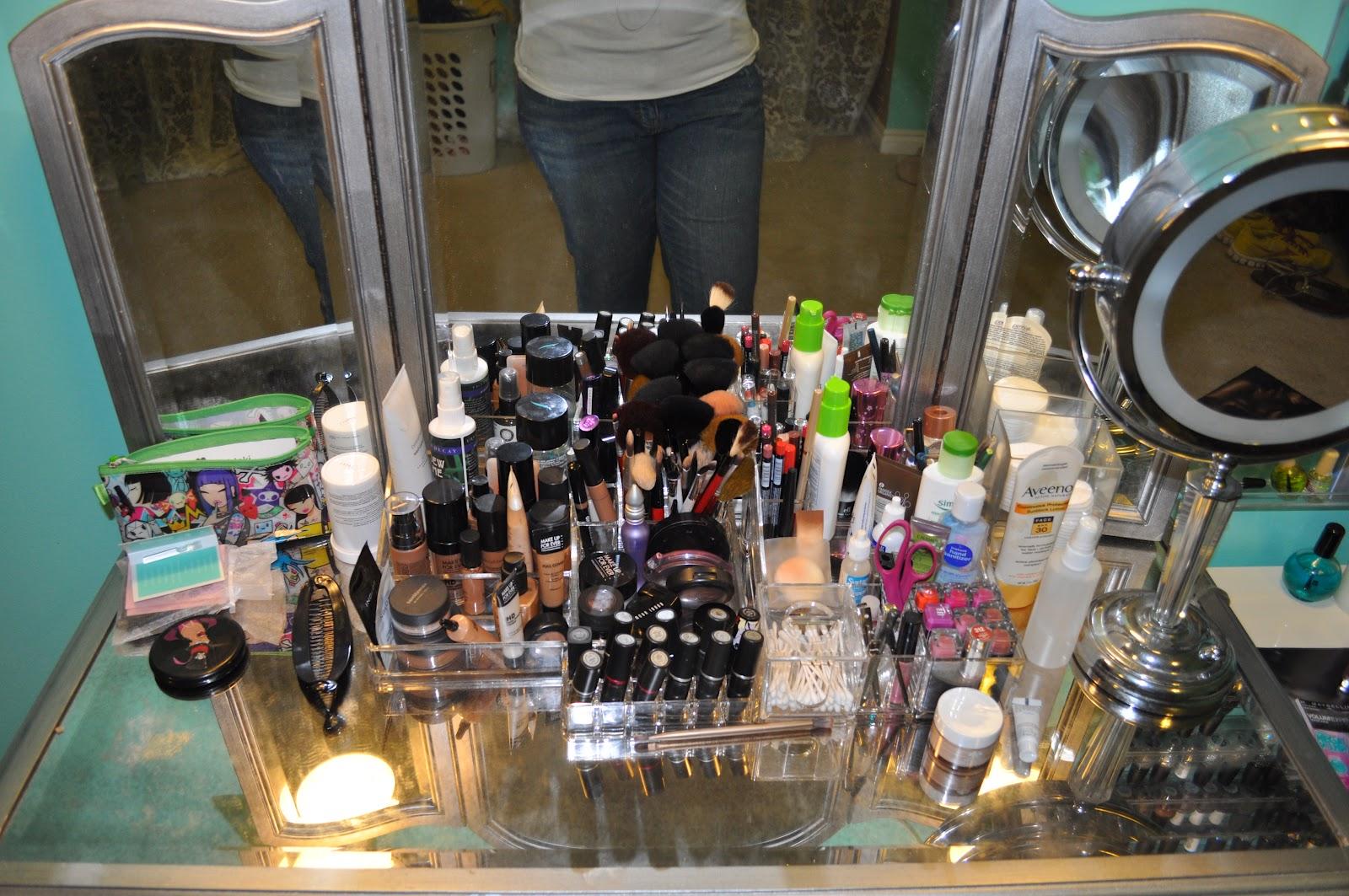 Organization My Vanity Amp Makeup Storage