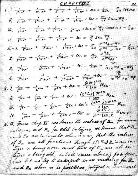 Ramanujan s Notebooks Part III (Pt. 3)