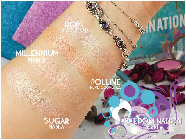millennium comparazioni nabla cosmetics freedomination collection summer eyeshadow